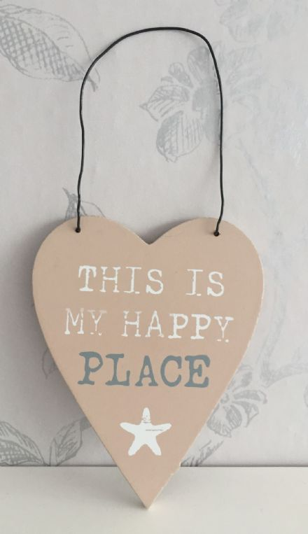 This Is My Happy Place Heart Plaque